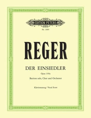 Der Einsiedler Op. 144a Max Reger Partition Chœur - laflutedepan