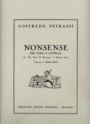 5 Nonsense Goffredo Petrassi Partition Chœur - laflutedepan