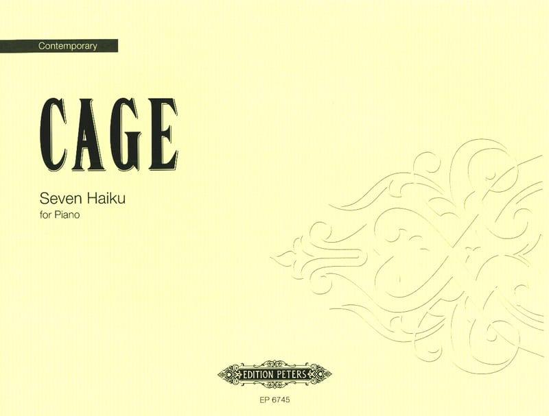 7 Haiku - CAGE - Partition - Piano - laflutedepan.com