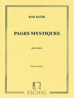 Pages Mystiques SATIE Partition Piano - laflutedepan