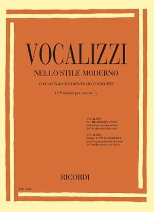 Vocalises dans le style moderne. Voix haute Partition laflutedepan