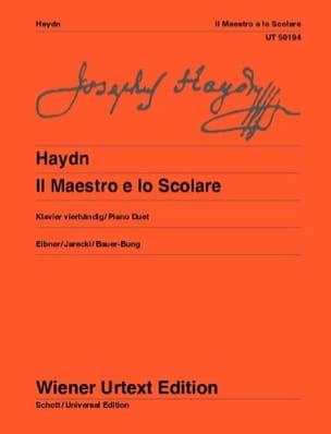 Il Maestro E Lo Scolare hob 17a-1. 4 Mains HAYDN laflutedepan