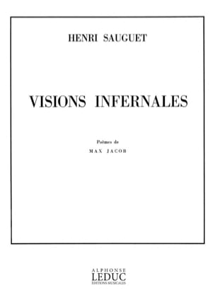 Visions Infernales Henri Sauguet Partition Mélodies - laflutedepan