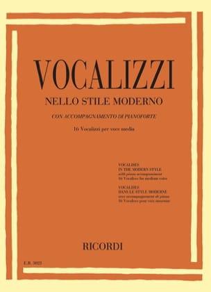 Vocalises dans le style moderne. Voix moyenne Partition laflutedepan