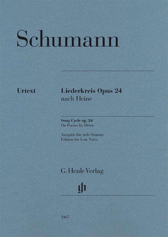 Liederkreis Opus 24 - Voix Grave - SCHUMANN - laflutedepan.com