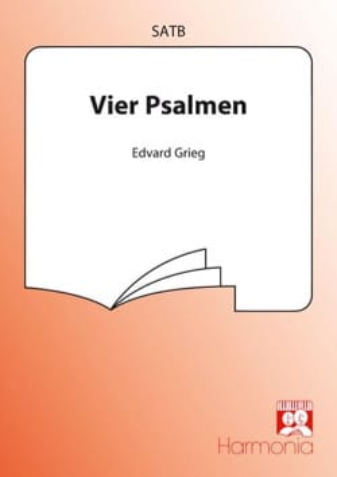 4 Psaumes - Opus 74 GRIEG Partition Chœur - laflutedepan