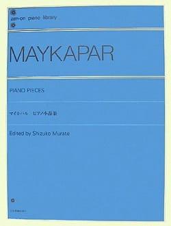 Piano Pieces Samuel Moïseevitch Maykapar Partition laflutedepan