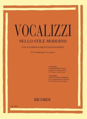 Vocalises dans le style moderne. Voix grave Partition laflutedepan