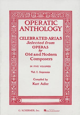Operatic Anthology Volume 1 Soprano - Partition - laflutedepan.com