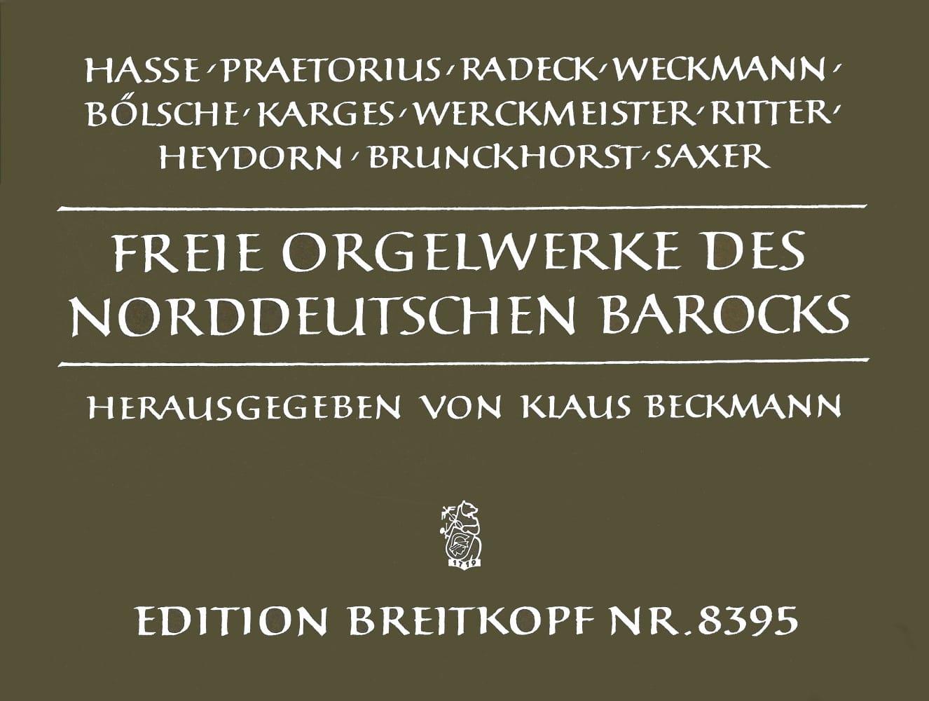 Oeuvres D'orgue. Allemagne Du Nord Baroque - laflutedepan.com