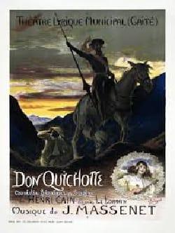 Don Quichotte MASSENET Partition Opéras - laflutedepan
