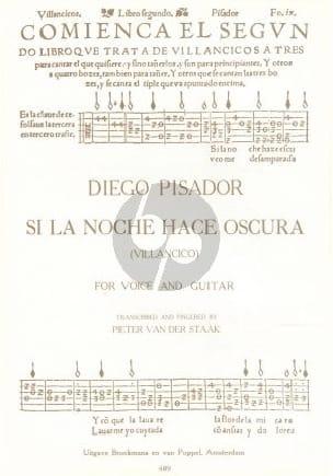 Si la Noche Hace Oscura Diego Pisador Partition Guitare - laflutedepan