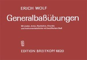 Generalbass-Übungen Erich Wolf Partition Clavecin - laflutedepan