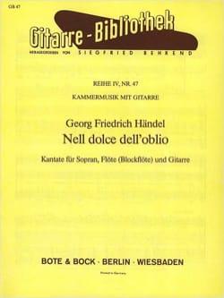 Nell Dolce Dell' Oblio Version Guitare HAENDEL Partition laflutedepan