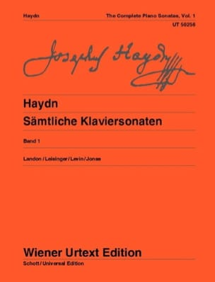 Sonates pour Piano Volume 1 HAYDN Partition Piano - laflutedepan