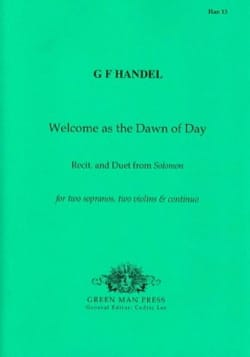 Welcome as the Dawn of day. HAENDEL Partition Duos - laflutedepan