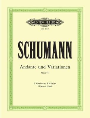 Andante et Variations Opus 46. 2 Pianos SCHUMANN laflutedepan