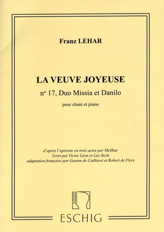 Heure Exquise. La Veuve Joyeuse - LEHAR - Partition - laflutedepan.com