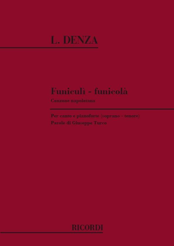 Funiculi-Funicula. Voix Haute - Luigi Denza - laflutedepan.com