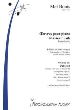 Oeuvres pour piano Volume 10 Danses B - Mel Bonis - laflutedepan.com