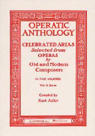 Operatic Anthology Volume 5 Basse Partition Recueils - laflutedepan