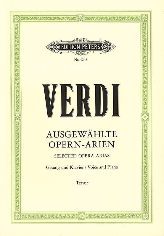 Arien Ténor - VERDI - Partition - Opéras - laflutedepan.com