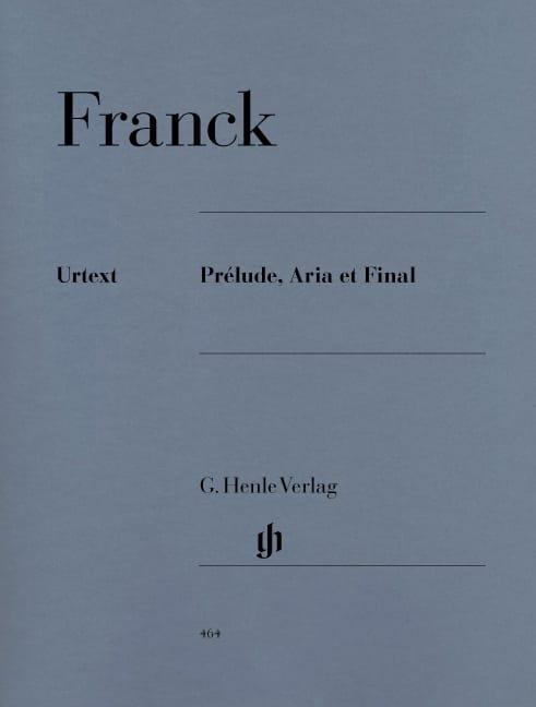 Prélude, Aria et Final - FRANCK - Partition - Piano - laflutedepan.com