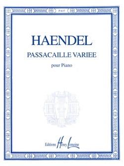 Passacaille Variée HAENDEL Partition Piano - laflutedepan