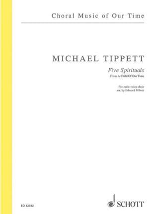 5 Spirituals Michael Tippett Partition Chœur - laflutedepan