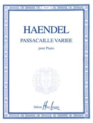 Passacaille Variée - HAENDEL - Partition - Piano - laflutedepan.com