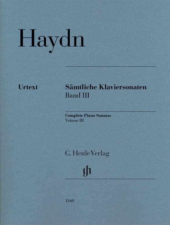Sonates Pour Piano - Volume 3 - HAYDN - Partition - laflutedepan.com