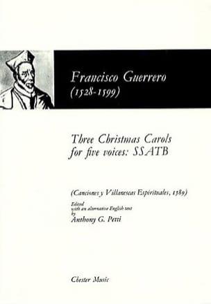 Three Christmas Carols For 5 Voices Francisco Guerrero laflutedepan