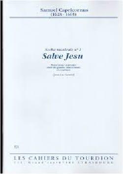 Salve Jesu Samuel Capricornus Partition Violoncelle - laflutedepan