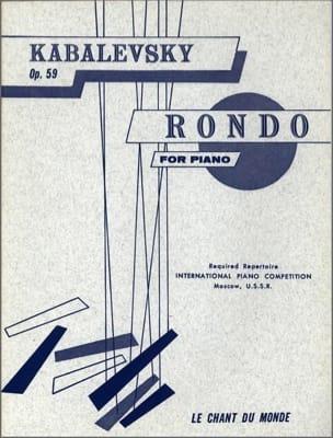 Rondo Op. 59 KABALEVSKY Partition Piano - laflutedepan