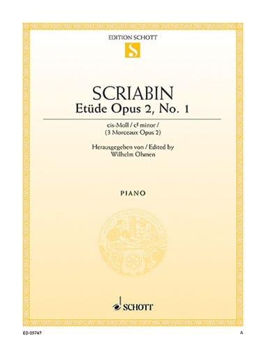 Etude En Do dièse Mineur Opus 2-1 - SCRIABINE - laflutedepan.com