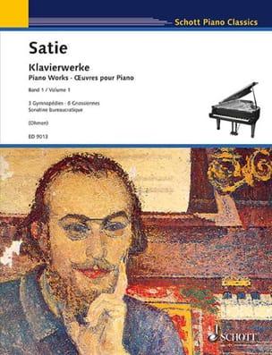 Œuvres pour Piano. Volume 1 SATIE Partition Piano - laflutedepan