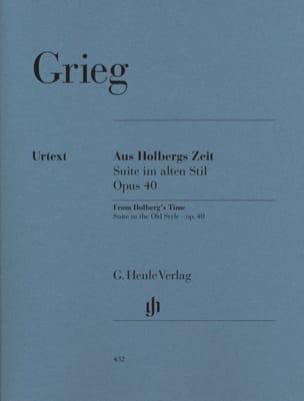 Suite Holberg Opus 40, Suite Dans le Style Ancien GRIEG laflutedepan