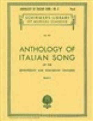 Anthology Of Italian Song Volume 2 - Partition - laflutedepan.com
