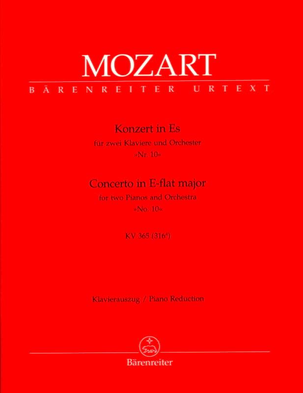 Concerto pour 2 pianos N° 10 mi bémol majeur K 365 316a - laflutedepan.com