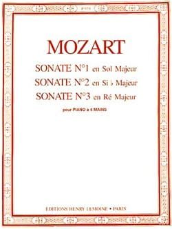 Sonates A 4 Mains N°1 A 3 MOZART Partition Piano - laflutedepan