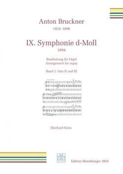 Symphonie n° 9. 2nd et 3ème mouvement BRUCKNER Partition laflutedepan