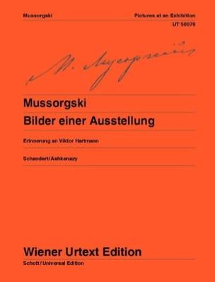 Tableaux d'une Exposition MOUSSORGSKI Partition Piano - laflutedepan