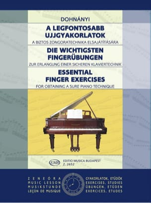 Exercices de doigts - DONHANYI - Partition - Piano - laflutedepan.com