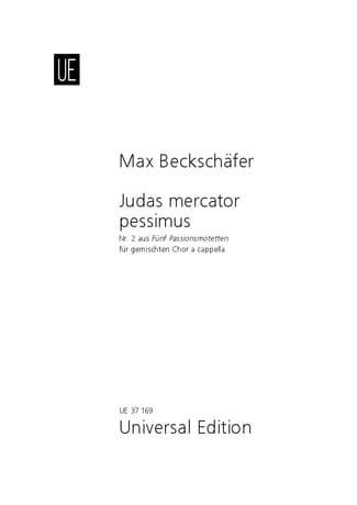 Judas mercator pessimus - Max Beckschäfer - laflutedepan.com