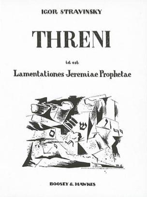 Igor Stravinski - Threni - Partition - di-arezzo.com