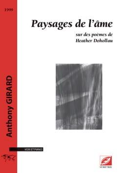 Paysages de l'âme Anthony Girard Partition Mélodies - laflutedepan