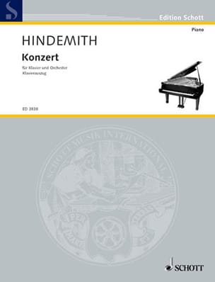 Klavier-Konzert 1945 HINDEMITH Partition Piano - laflutedepan
