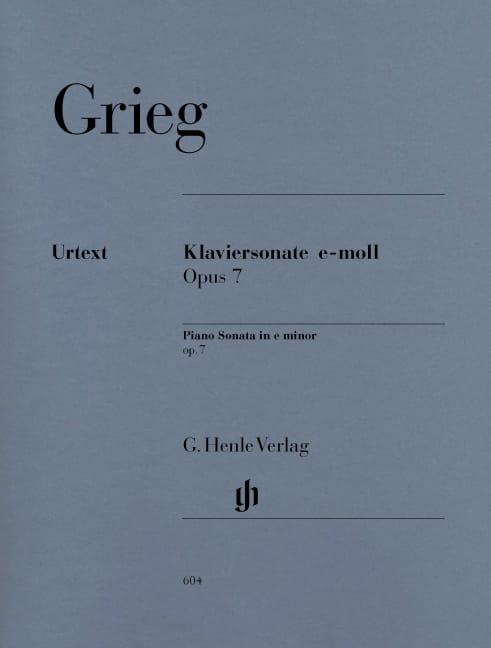Sonate pour piano en mi mineur Opus 7 - GRIEG - laflutedepan.com