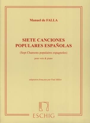 7 Canciones Populares Españolas. Voix Moyenne DE FALLA laflutedepan