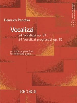 Vocalizzi Opus 81 et 85 Heinrich Panofka Partition laflutedepan
